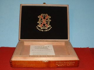 Fuente Fuente Opus x Lost City Robusto Wood Cigar Box Jewelry Box