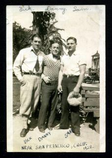 Lou Costello Stunt Man Double Vic Parks 1928 Vintage Snapshot Photo