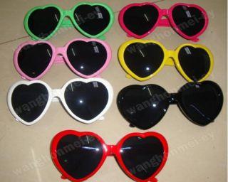 New Heart Shape Love Fashion Men Women Heart Love Sunglasses 8 Colors