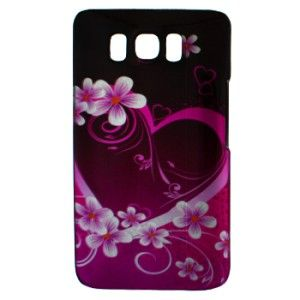 Purple Love Hard Case Snap on Cover HTC T Mobile HD2