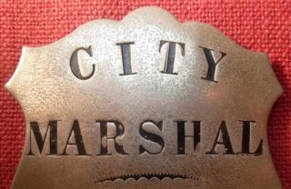 Obsolete Old West City Marshal Badge Lovelock Nevada No Reserve