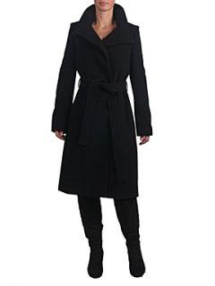 Helen McAlinden Funnel Neck Coat Black