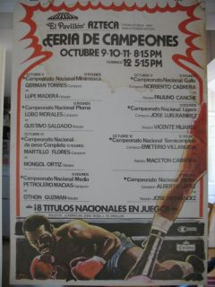 1980 Jose Luis Ramirez vs Vicente Mijares on Site Boxing Poster Mexico
