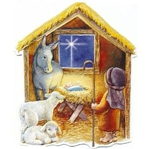 Carol Wilson Christmas Manger Nativity Boxed Greeting Cards 15 Ct