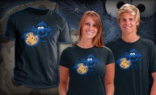 Cthulhu Lovecraft Sesame Street Cookie Monster Mashup Teefury Mens