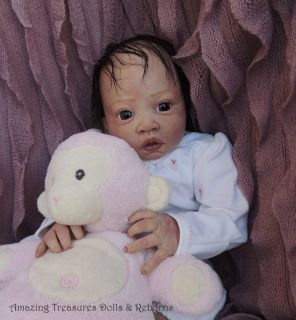 Reborn Baby Doll Lulu Newborn Baby Jen Printy Lauscha Eye Delta