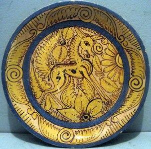 Old Mexican Tonala Pottery 11 Fantasia Charger Lucano Style 1