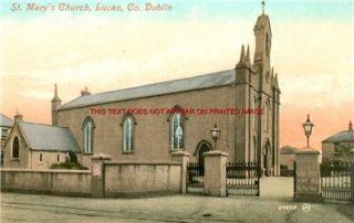 Dublin Lucan St Marys Church Irish Photo 14 x 11 Mnted