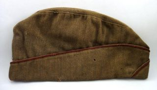 WWI Soldier Uniform Wool Hat w 2 Metal Pins Captain Luther Kice
