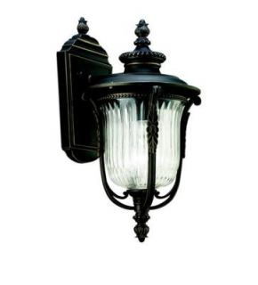 Kichler Luverne Rubbed Bronze Outdoor Wall 1 Light 49001RZ