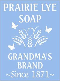 Primitive Stencil, Prairie Lye Soap, Laundry, Kitchen, Bath, Vintage