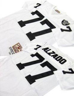 Lyle Alzado 77 Oakland Raiders White Sewn Throwback Mens Size Jersey