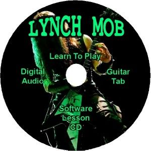 Lynch Mob Guitar Tab Lesson Software CD 14 Songs