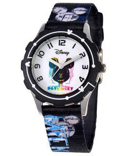 Disney Watch, Kids Mickey Mouse Black Printed Nylon Strap 32mm