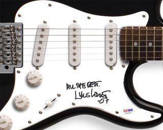 Lyle Lovett Autographed Signed Guitar PSA DNA UACC RD COA