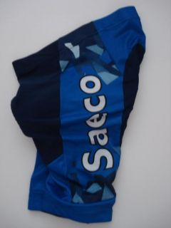 New Size Medium M Saeco Blue Team Cycling Road Bike Regular Shorts 50