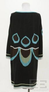 Missoni Black Teal Wool Sweater Dress Size 48