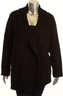 Karen Scott New Black Pointelle Long Sleeve Cardigan Sweater Plus 2X