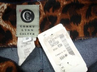 NEW $184 COREY LYNN CALTER Designer Sexy Jean Skirt in Size 6