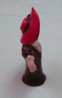Lynne Half Doll Heirloom Half Doll Mold Flapper Style Painted Red Hat
