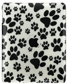 New Cute Black Paw Print Hard Case Cover for Apple iPad 1 1st