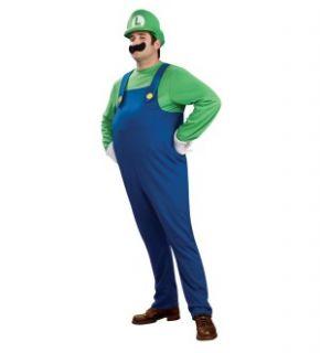 Super Mario Brothers Deluxe Luigi Costume Adult Plus