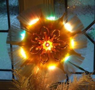 Vintage Lighted Christmas Tree Topper Top Light