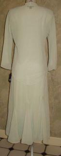 Richards 2pc Long Social Beaded Dress Jacket Sz 10 $129