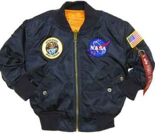 Alpha Industries NASA MA 1 Flight Pilot Jacket Military