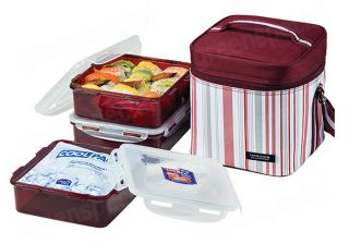 New Lunch Box Set Bento Lock & Lock HPL856 Salad Sandwich Box With