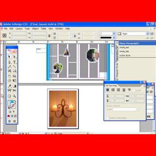 InDesign CS2 Video Tutorial Training 5 hrs DVD graphic Design mac & pc