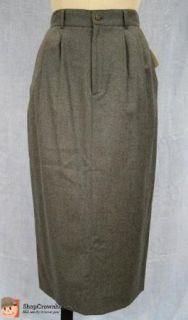 Vtg JG Hook  Heather Gray Lined Wool Equestrian Hunt Skirt Sz 10