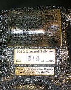 VINTAGE BILLINGS MONTANA CENTENNIAL 1882 1982 BELT BUCKLE LTD EDITION