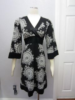 Inc International Concepts  Womens Black White Kimono Style