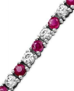 Effy Collection 14k Gold Bracelet, Ruby (12 ct. t.w.) and Diamond (1/4