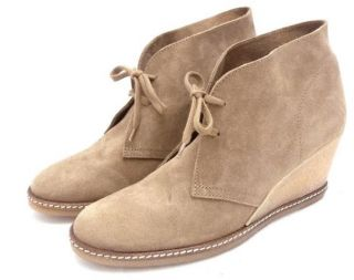 JCrew $198 MacAlister Wedge Boots 7 Nut Shoes