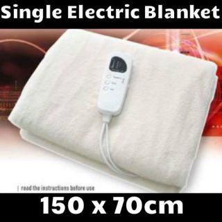 Single Electric Blanket Washable Heater Over Under Bed Cover Night