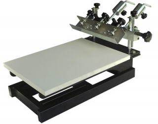 Color 1 Station Screen Printing Machine 3 Pallets Fine Adjust Printer