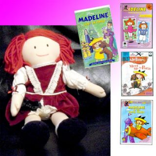 Large Madeline Rag Doll Bonus DVD VHS Lot