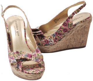 Madden Girl by Steve Madden Encoree Pink Multi Floral Wedge Heel