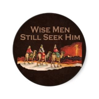 Wise Men Still Seek Him, Christmas Stickers