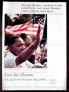 Martin Luther King Jr 1986 Dep Health Drug Abuse Poster