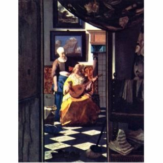 The Love Letter, By Johannes Vermeer Photo Cutout