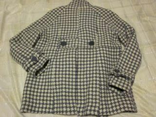 Steve Madden Houndstooth Double Breasted Coat Sz L