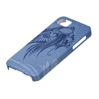 Silhouette Indian Chief Navy iPhone 5 Cover