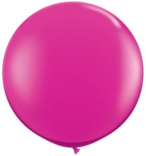 Magenta 36 Latex Balloon Wedding Prom Shower Valentine