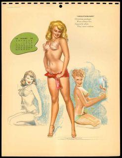 Macpherson Glamour Girl Calendar Pin Up December 1948