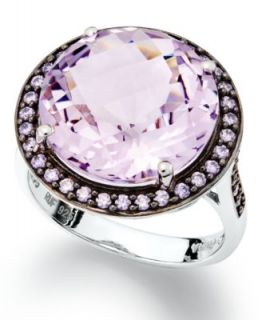 Effy Collection 14k White Gold Ring, Amethyst (4 1/4 ct. t.w.) and
