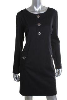 Michael Kors New Navy Ponte Long Sleeve Knee Length Wear to Work Dress