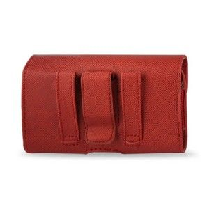 Red Leather Holster Pouch Belt Clip for iPhone 4 s Otterbox Commuter